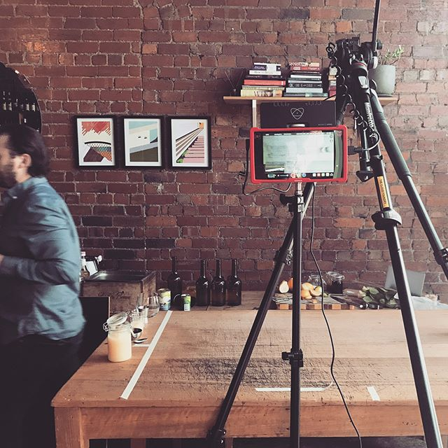 Shooting a series of short how-to cocktail videos. So... that tripod is totally stable and definitely didn't fall. Thanks to @the_tipla and @underwoodwinebar