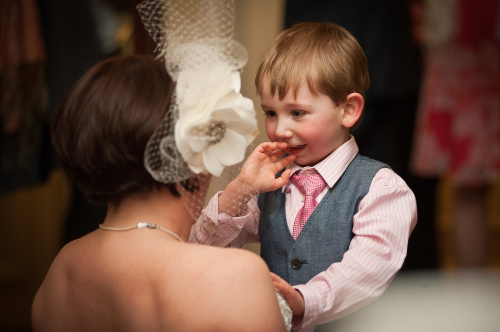 Bride and Page boy, Ringwood Hall Wedding Photography