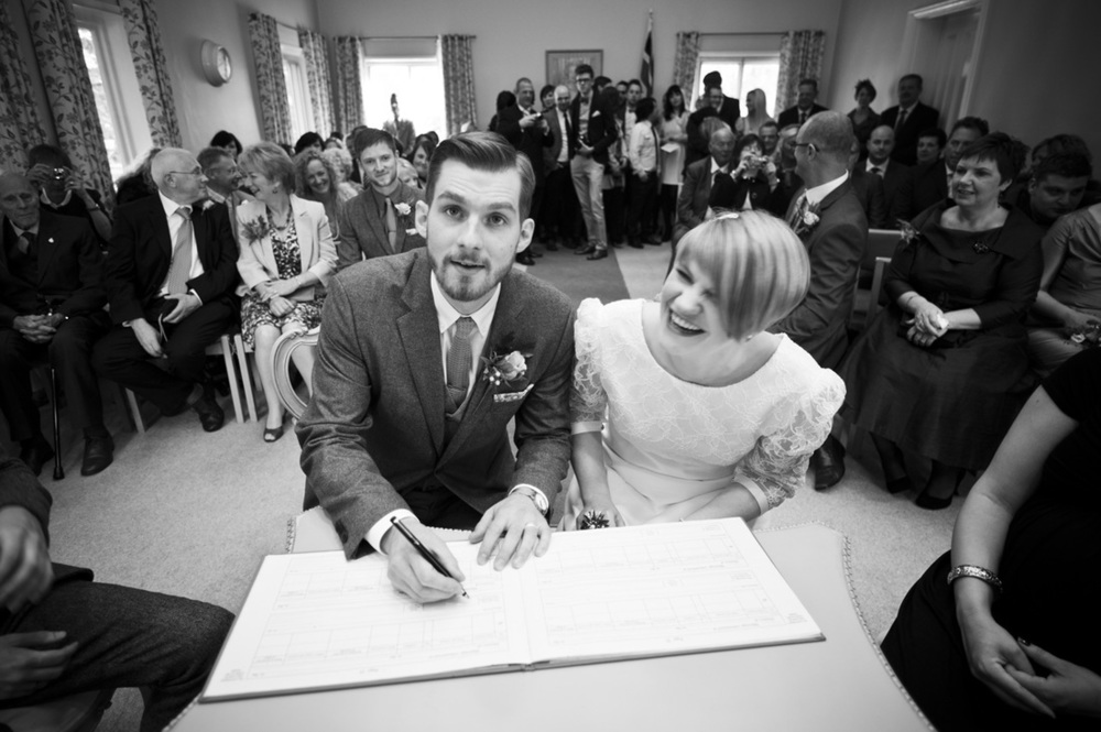 Signing the Register, Nottingham Wedding Photographer