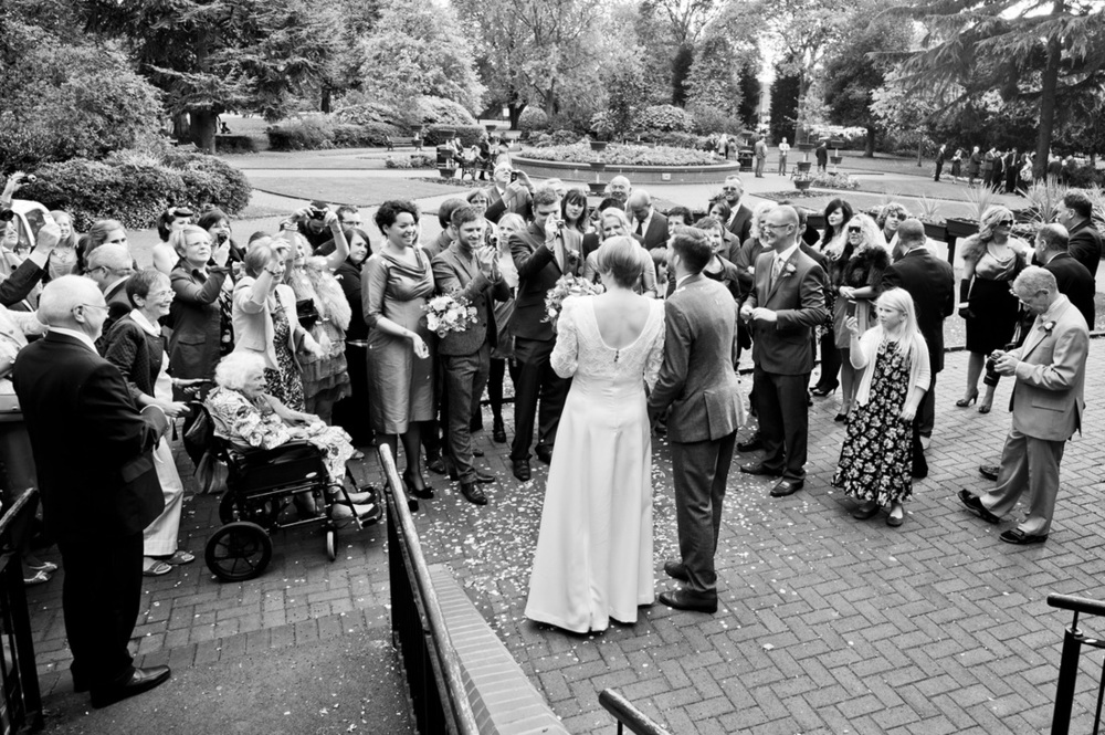 West Bridgford Wedding Photography Black and White