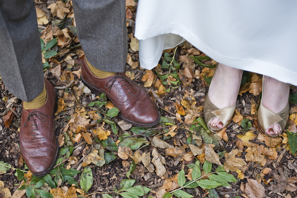 Wedding Shoes together, Nottingham Wedding Photographer