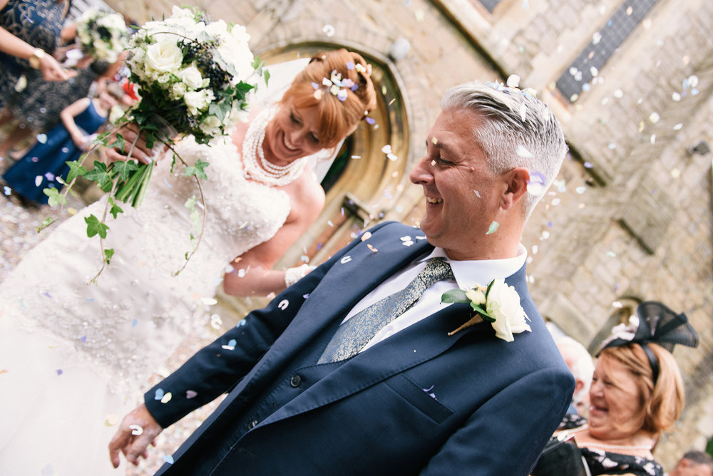 Nottingham Wedding Photography Confetti
