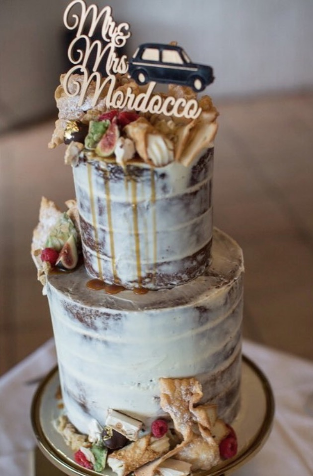 Naked cake by @somethingbluecakes