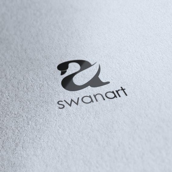 Swan Art logo designed by Spark Creative. -