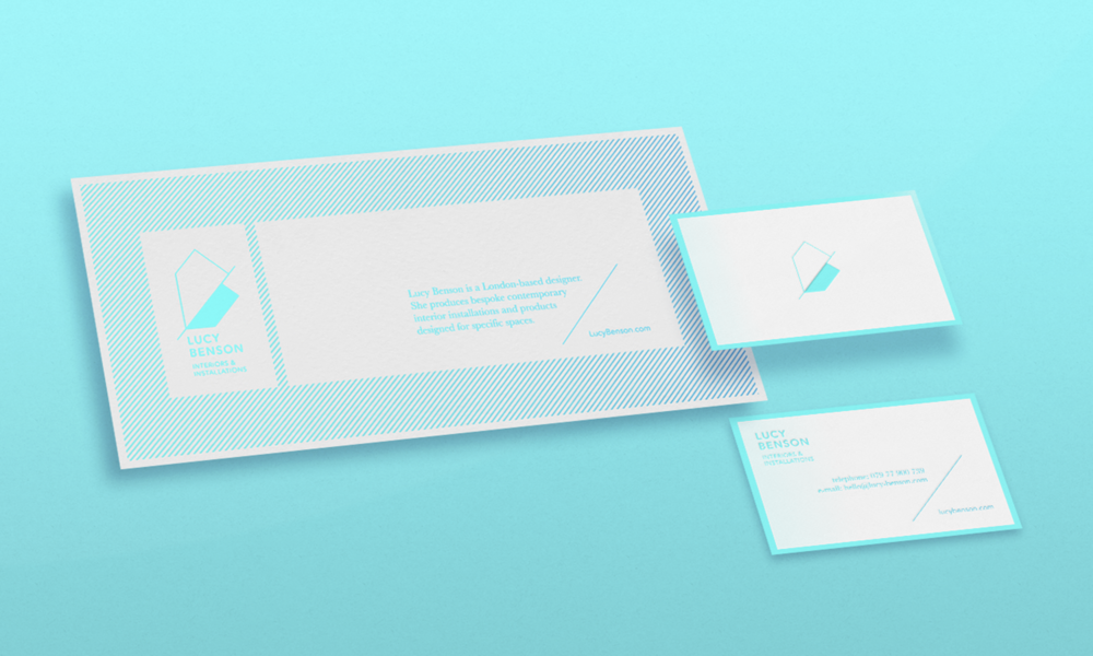 Stationery design for Lucy Benson