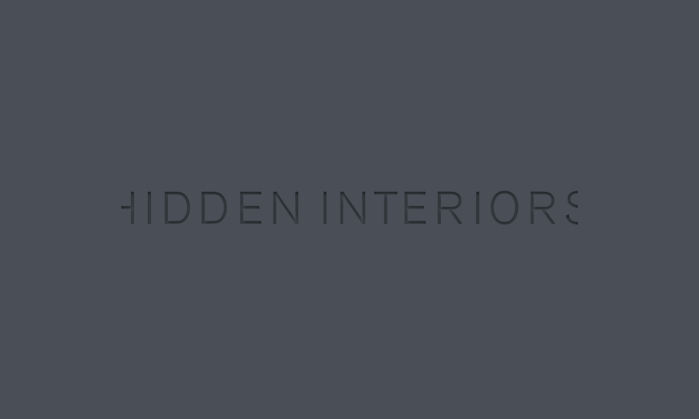 Hidden Interiors logo - grey on grey.