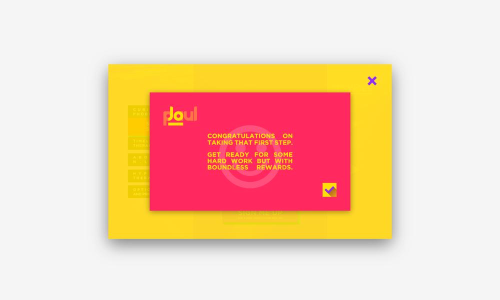 Web design concept for creative therapist, Jo Paul.