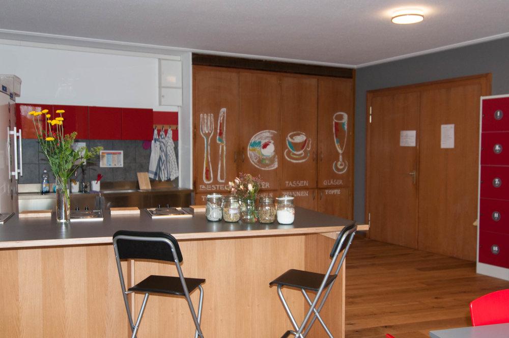 Insel Hostel Lindau Bodensee - Küche und Gemeinschaftsraum