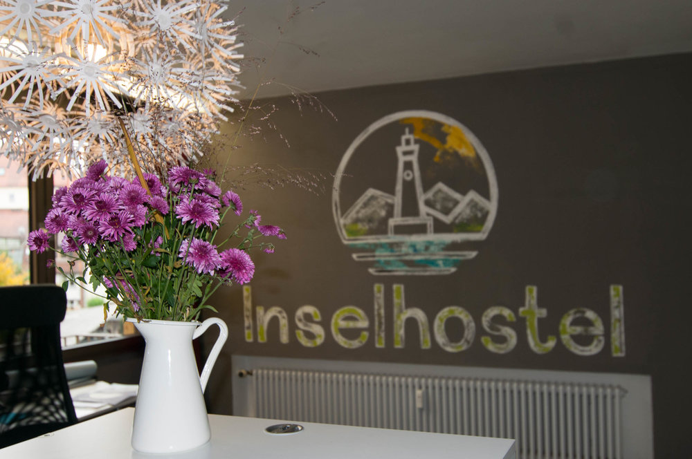Insel Hostel Lindau Lake Constance - at the reception