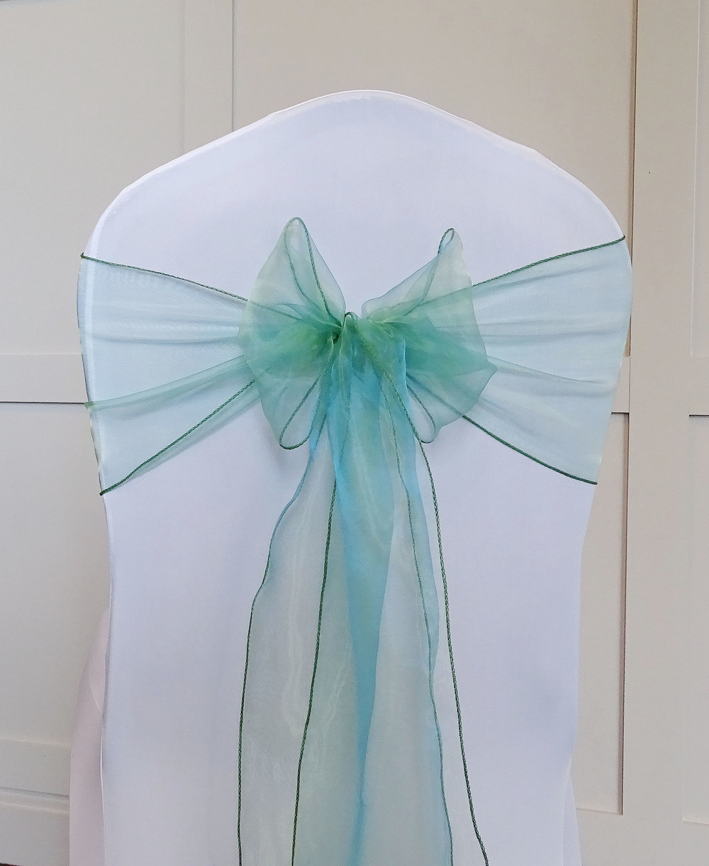 Heather Green Organza