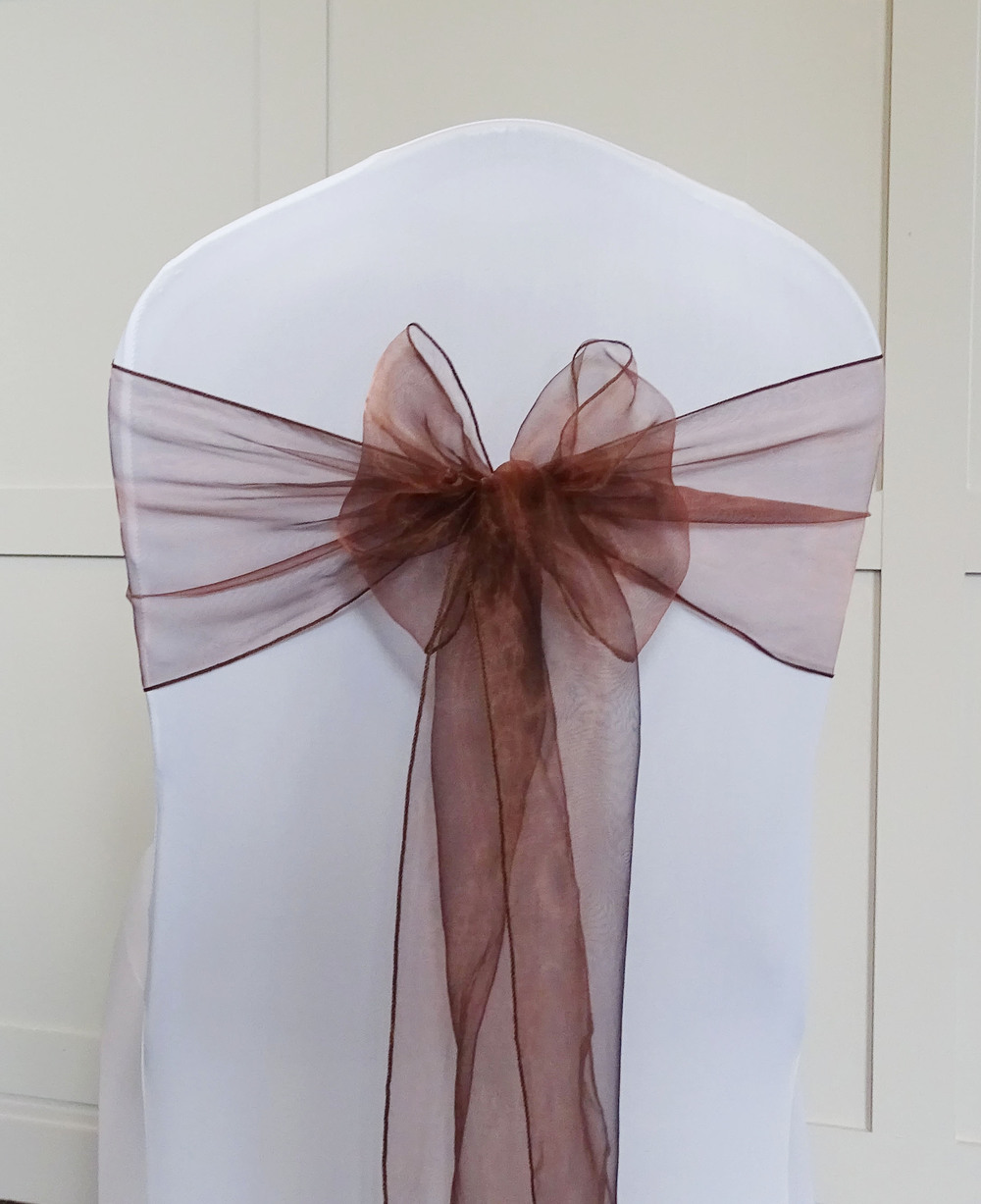 Brown Organza
