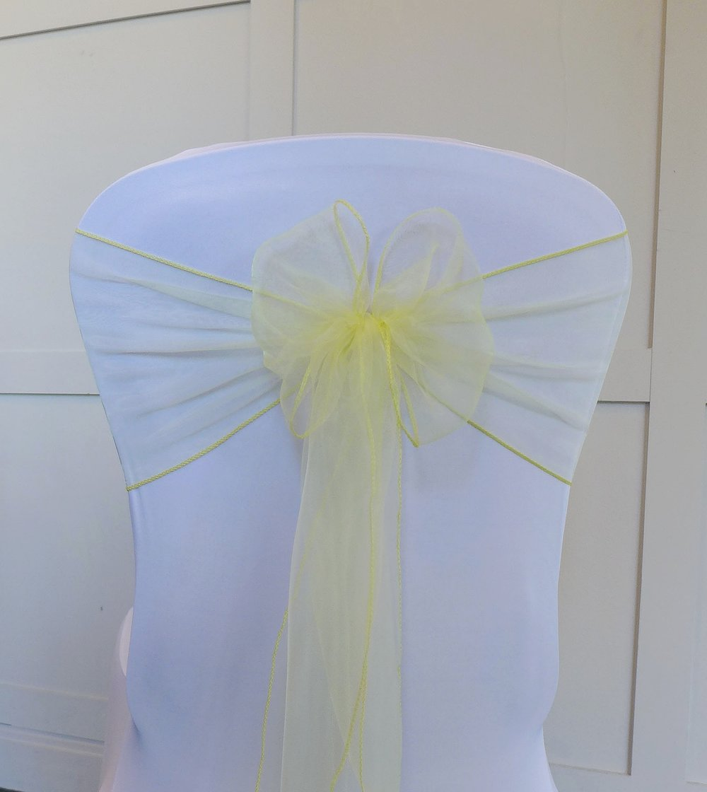 Pale Yellow Organza