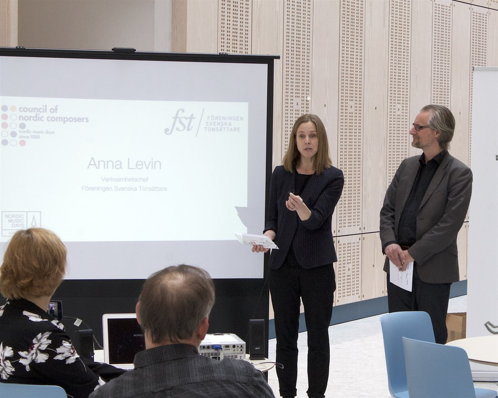Anna Levin, new President of FST, and Fredrik Malmgård, NMD Project Manager