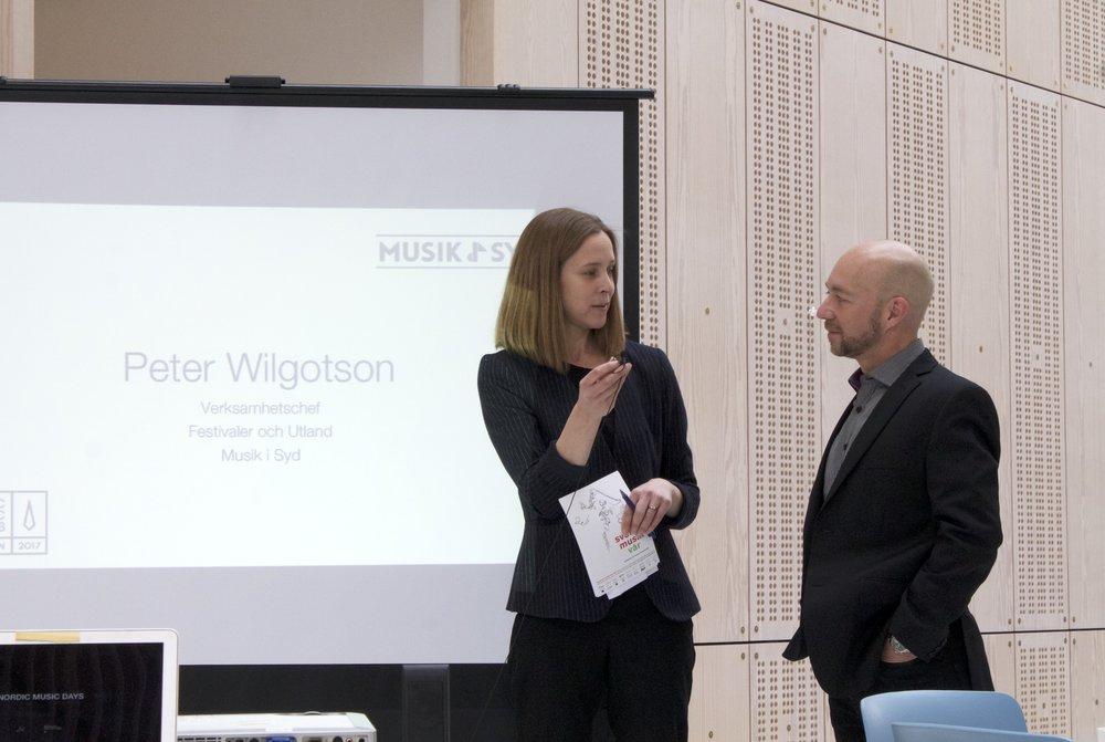 Anna Levin, FST och Peter Wilgotsson, Musik i Syd