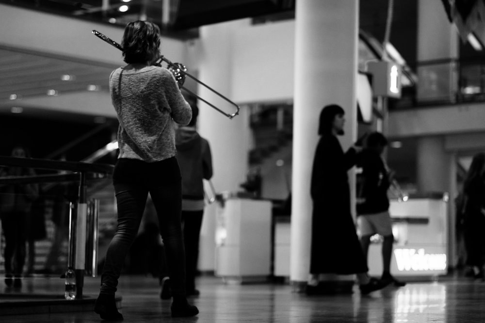 BRASS WALK WITH LONDON SINFONIETTA, Nordic Music Days, SBC London, 30 September 2017, Photo: Paola Padoan