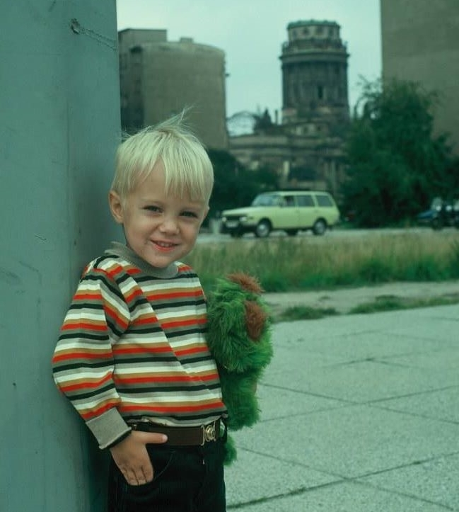 This is what I looked like in Berlin, Germany. Age 5.