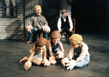 """Like Trees Walking"" performance and residency at Eastern Connecticut State University with Open Space Arts. 1998."