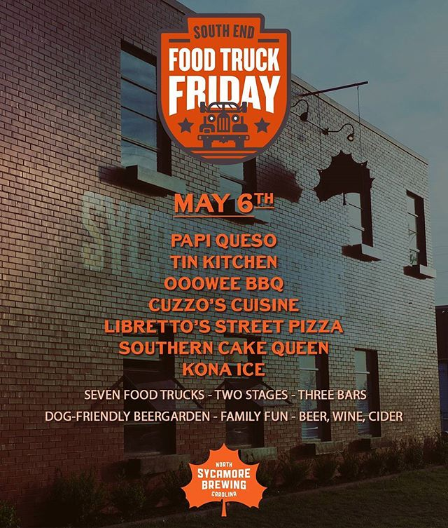 Tomorrow's Food Truck Friday line-up! Come join us @sycamorebrewing tomorrow!
