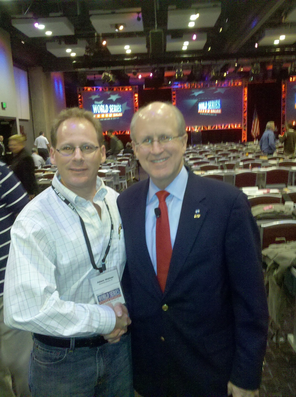 Adam Weiner with David Walker ex - Comptroller general of the United States