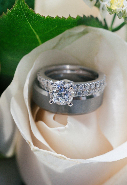 Standard ring in a flower arangement shot
