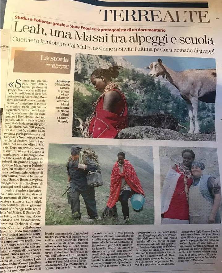 """Articolo di Enrico Martinet su """"La Stampa"""" - 13 gennaio 017"""
