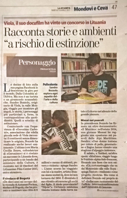 La Stampa - 18 aprile 017