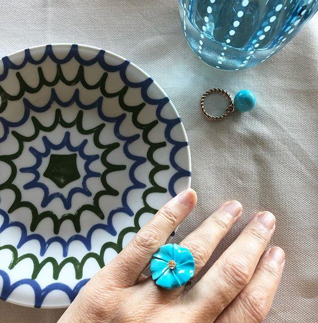 Lunchtime 🥑🍋🍊 Sardinian style #turquoise #azzuro