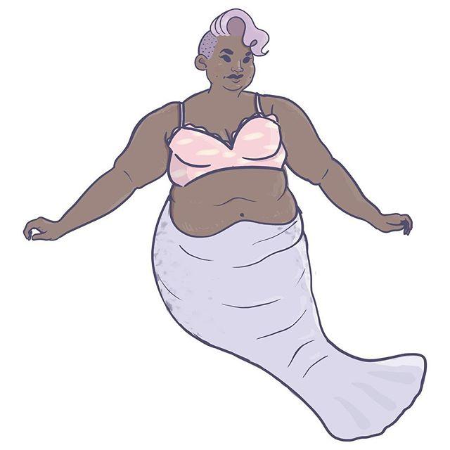 MerMay Day ✌🏽 • #sketch #mermay #mermaid #manatee #sea #ocean #pastel #illustration #art #artistsoninstagram #undercut #fat #cute