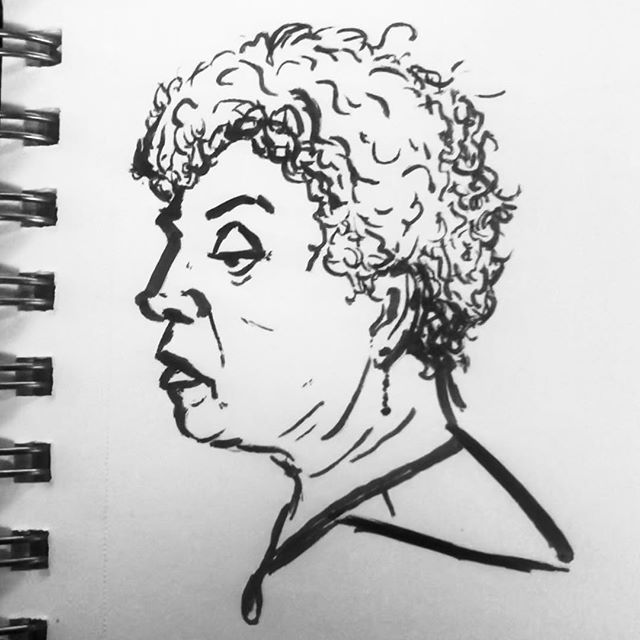 Drawing people on the train is the best way to pass the time.  #drawing #illustration #ink #markerdrawing #brushpen #sharpie @sharpie