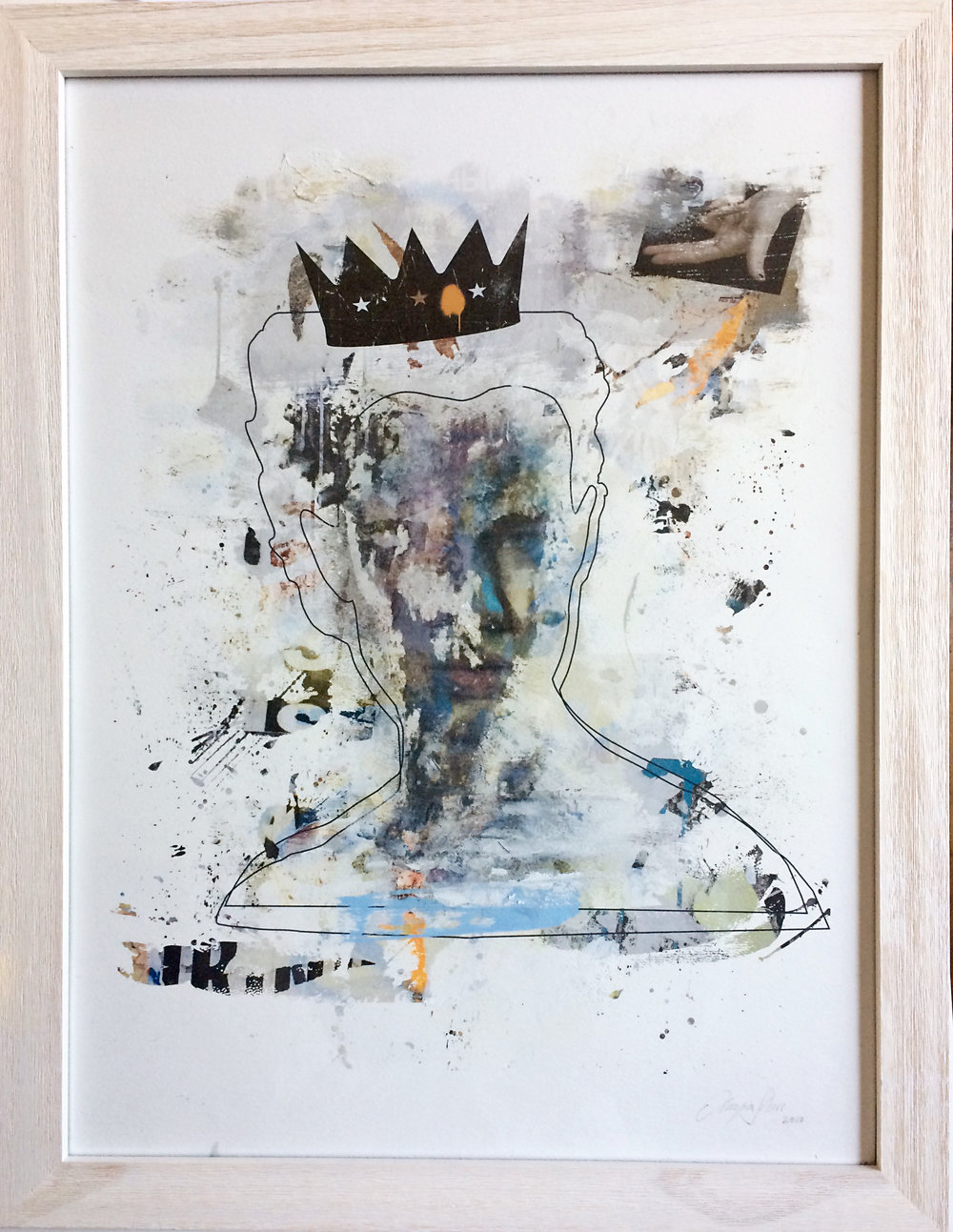 QUEEN I - Mixed media on paper2017