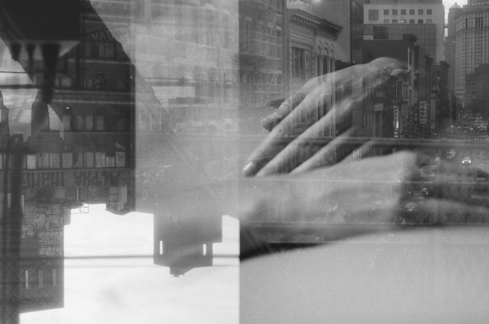 Double exposure on 35mm BW film