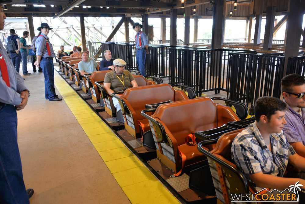 The ride was rebuilt by Great Coasters International (GCI) and now features the Millennium Flyer trains.