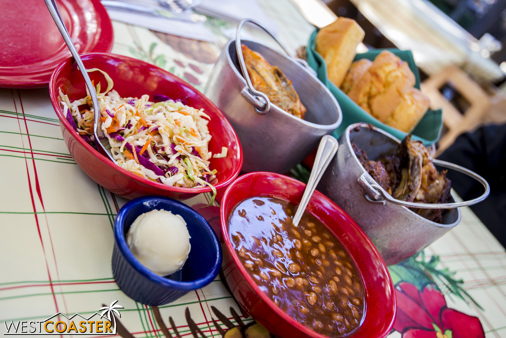 My first time ever dining at the Big Thunder Ranch Barbecue was on one of its last days of operation, but the food was actually really good!