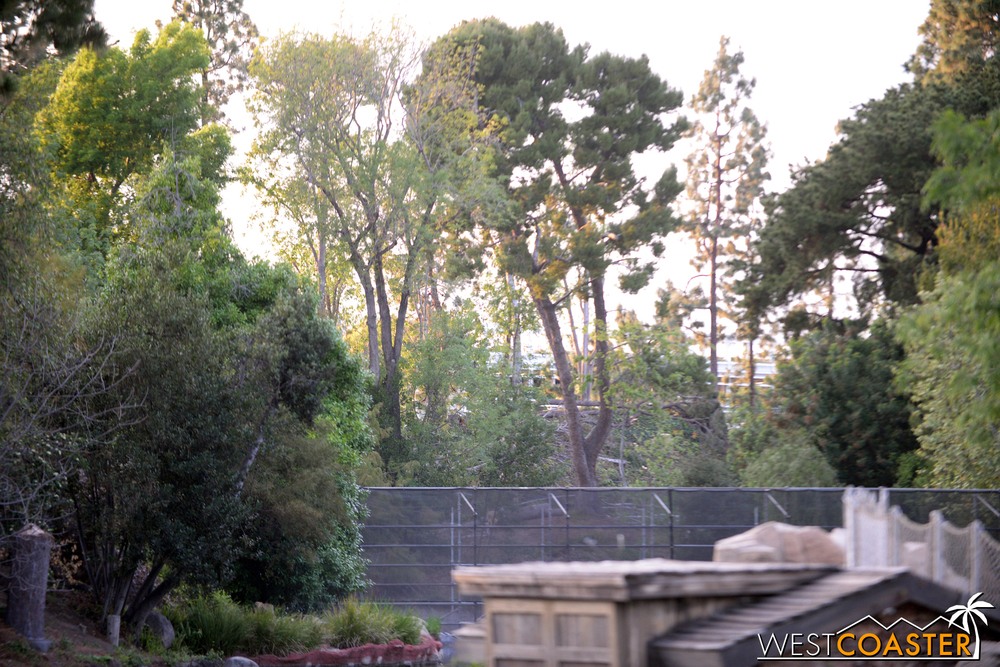 "Guests who bother to look far can see a bit of ""Star Wars"" Land beyond."
