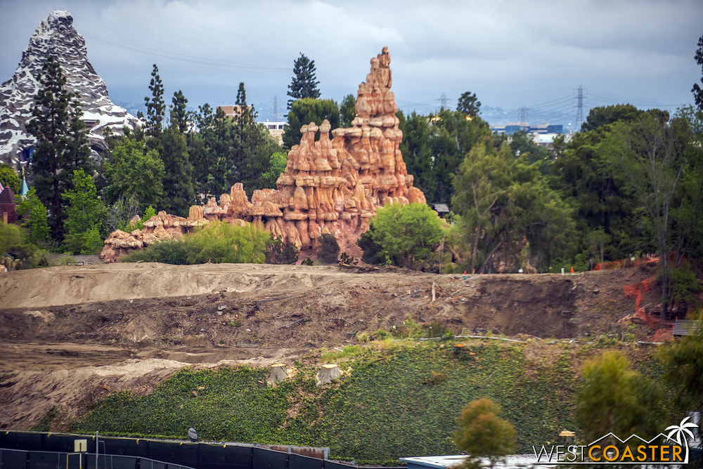 Behind Big Thunder Mountain Railroad.