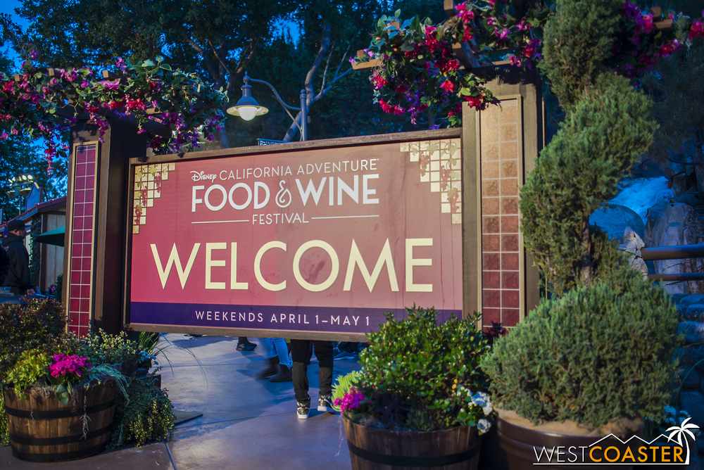 It was great to have the Food and Wine Festival back again after a five year hiatus.