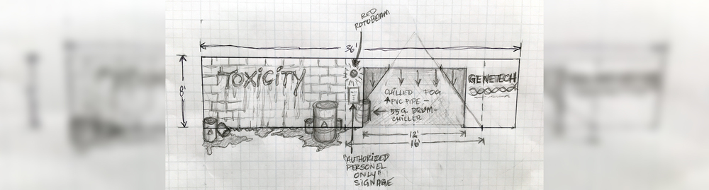 A concept sketch from the Toxicity scare zone, coming to Midsummer Scream. (Image courtesy of Midsummer Scream)