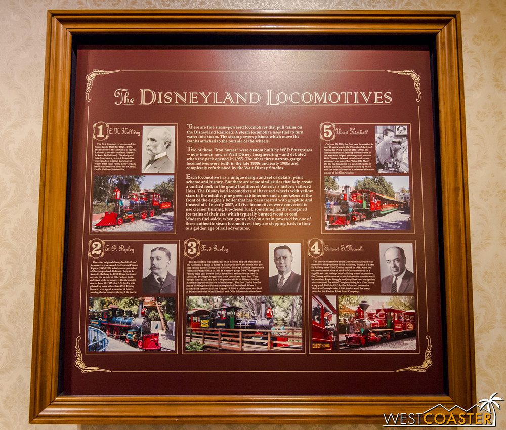 There's lots of great information on the trains at Disneyland.
