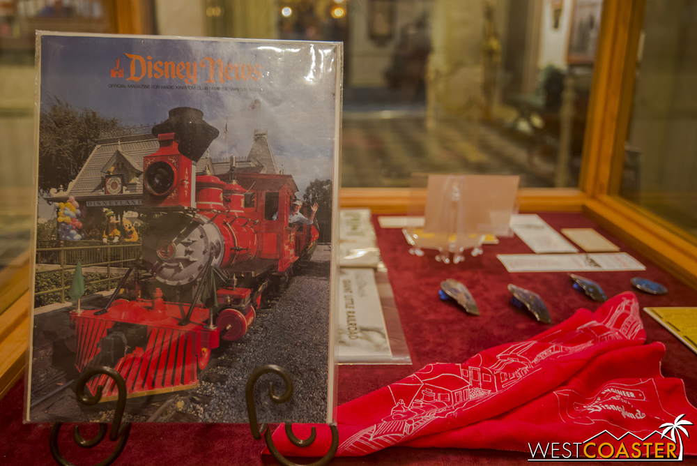 There are also displays on Disneyland Railroad related memorabilia of times past.
