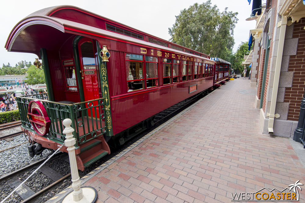 As long as it isn't raining or too warm, the Lilly Belle is parked on the tracks for public viewing.