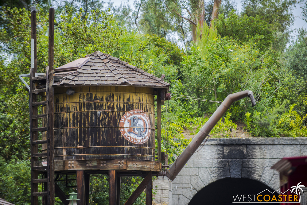Definitely not an angle you can see everyday--except right now while the Disneyland Railroad is closed!