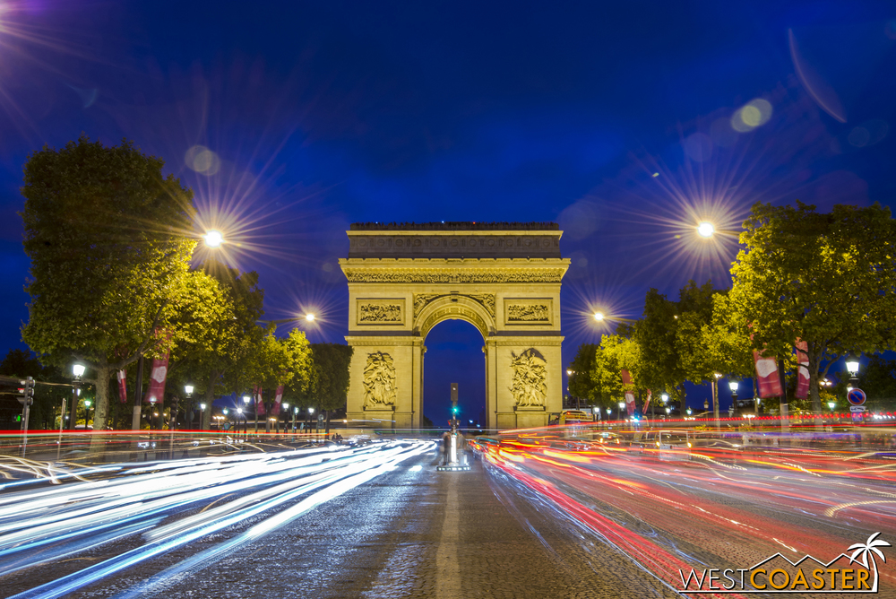 Paris' Arch of Triumph from the Champs-Élyssés.