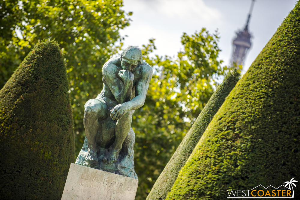 The Thinker  sits in contemplation at the Rodin Museum.