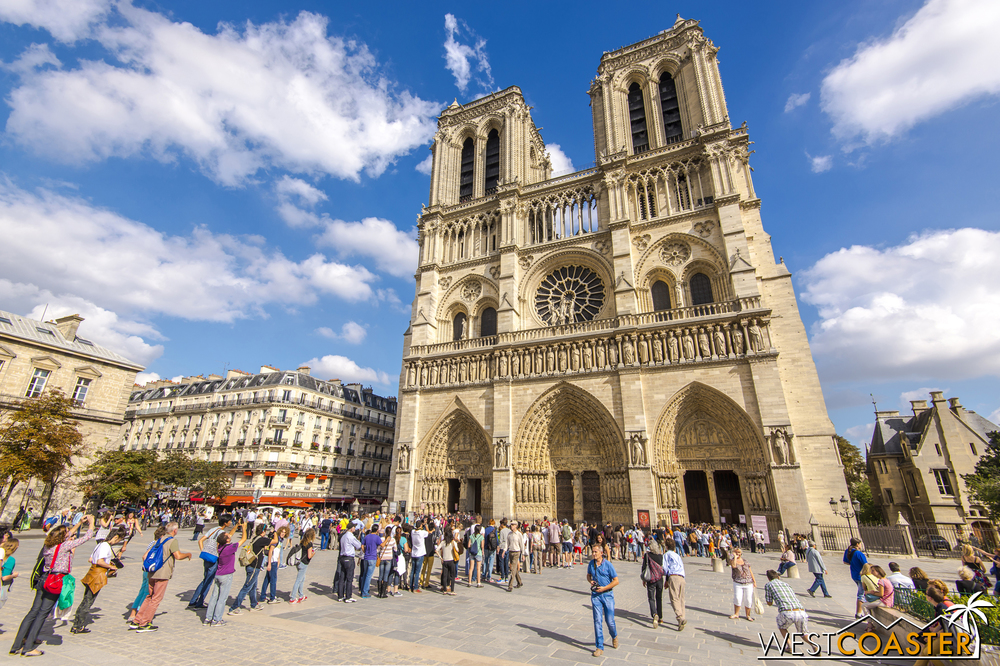 Notre Dame is one of the most famous sites in Paris.