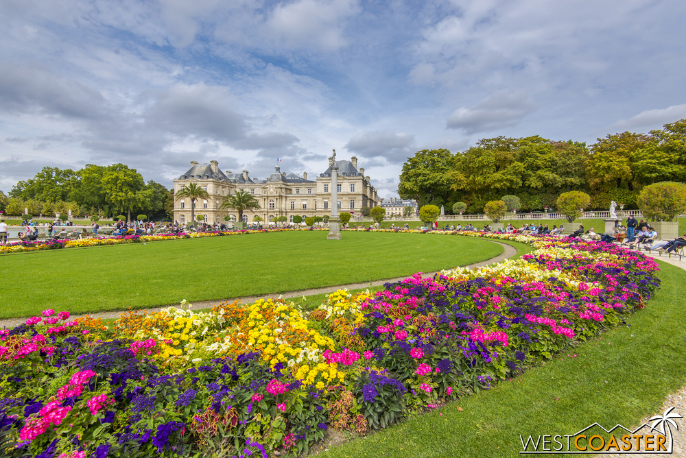 The beautiful and sprawling Luxembourg Gardens are popular with tourists and locals alike.