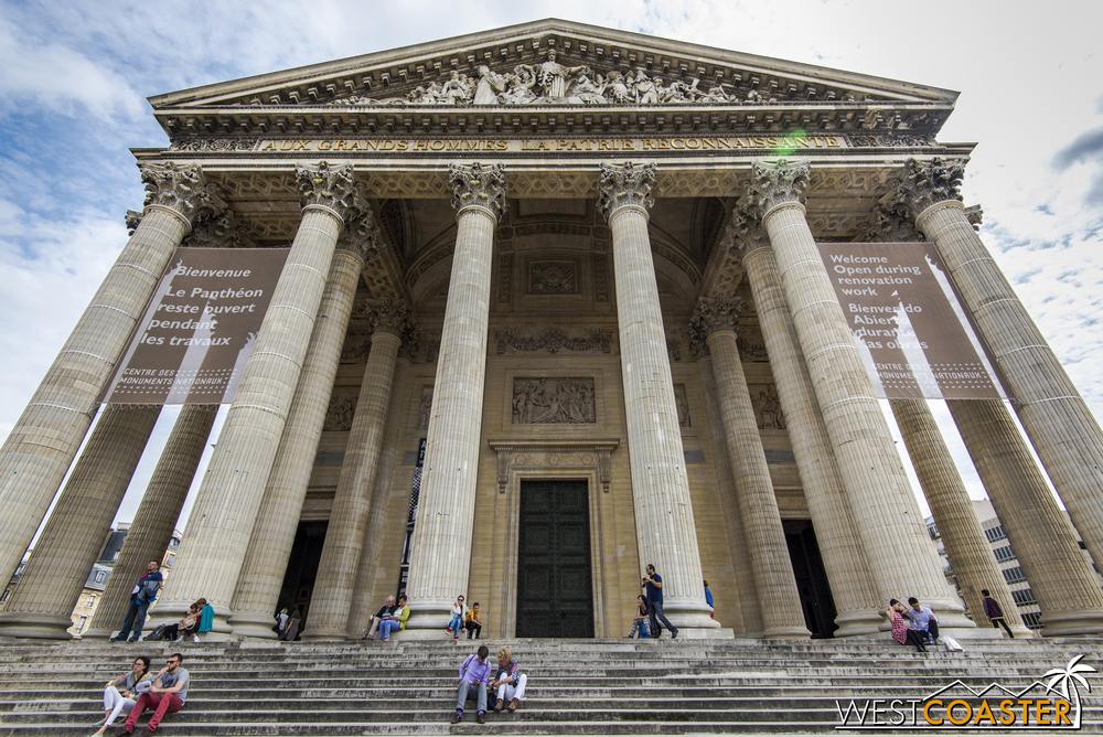 The Pantheon in Paris houses a collection of tombs of many notable scientific. literary, and historical figures, such as Marie and Pierre Curie, Victor Hugo, Voltaire, and Jean-Jacques Rousseau.