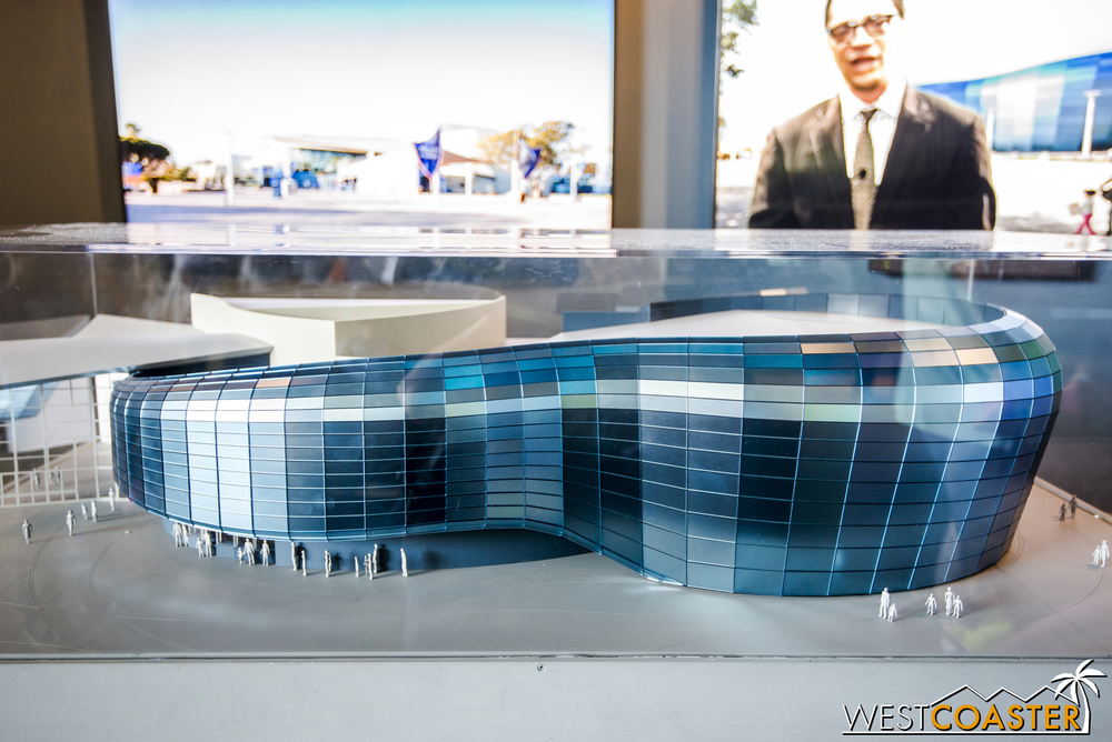 A model of the expansion sits in the lobby currently.