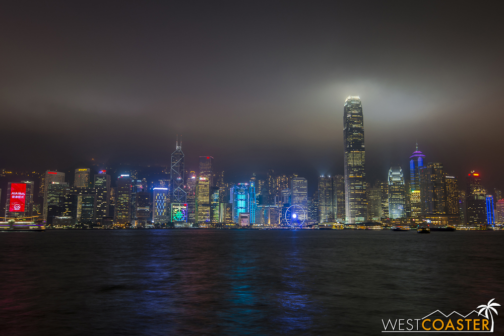 Symphony of Lights is a free nightly music and light show that takes place across the colorfully lit towers of Hong Kong Island and is viewed from the waterfront along Tsim Sah Sha Tsui on the Kowloon side of Hong Kong.