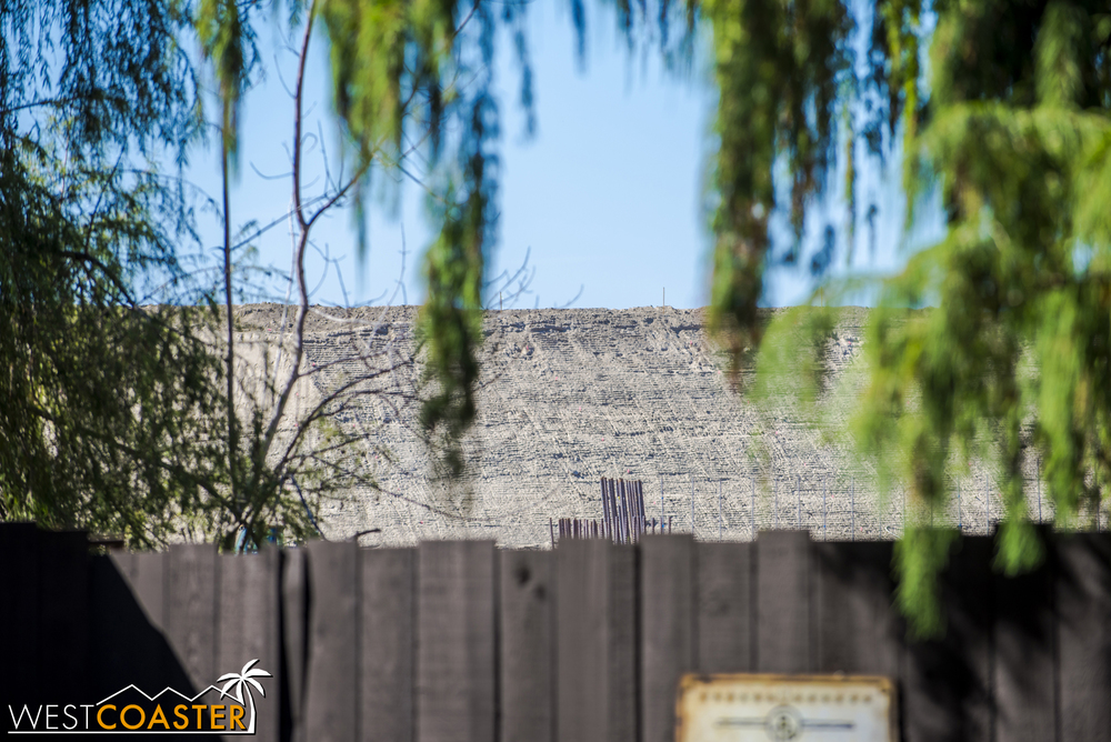 "Moving to ground level and spying on ""Star Wars"" Land from right by Big Thunder Mountain Railroad."