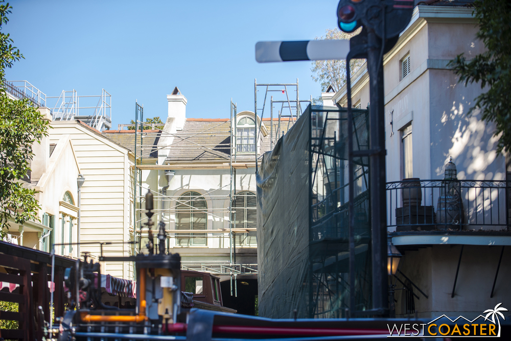 More refurbishment work occurring at New Orleans Square Station.